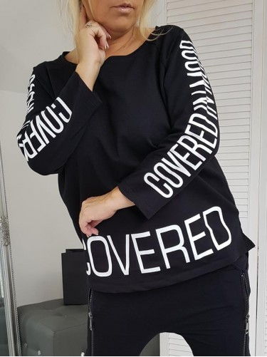 BLUZKA  COVERED  BLACK