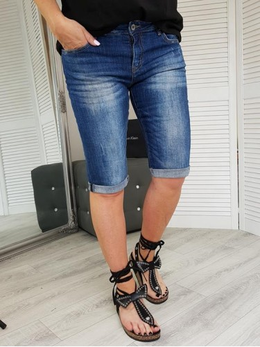 SZORTY DENIM  JEANS  BLUE