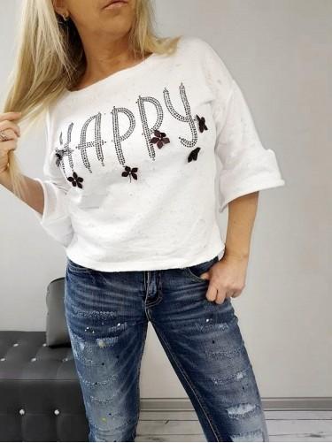 BLUZKA HAPPY,WHITE