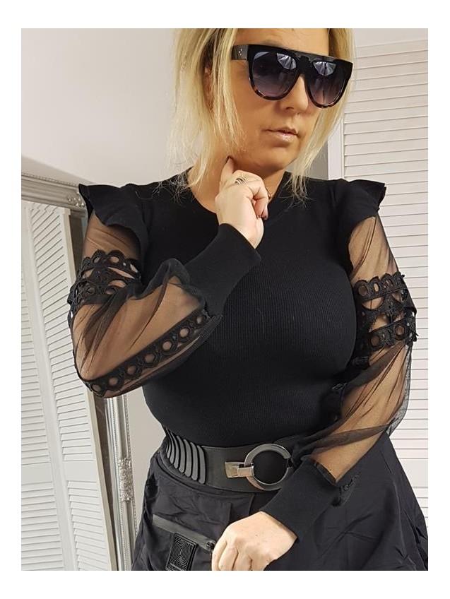 BLUZKA AGNES SLIM BLACK