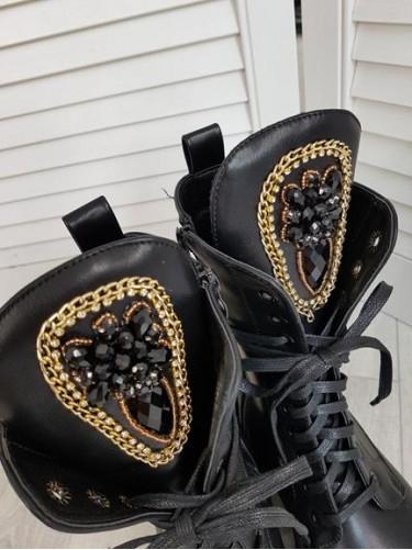 BOTKI TRAPERY GOLD BLACK